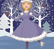Winter skating girl by AnnArtshock