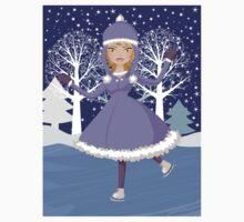 Winter skating girl Kids Clothes