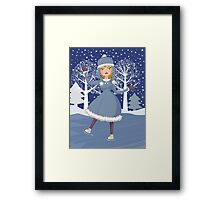Winter skating girl 3 Framed Print