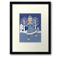 Winter skating girl 4 Framed Print