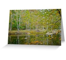 Unami Creek Dressed For Autumn Greeting Card