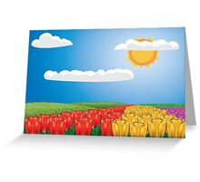 Tulip field 2 Greeting Card