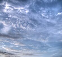 White Clouds and Sky 5 by AnnArtshock