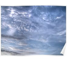 White Clouds and Sky 5 Poster
