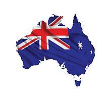 Australia Flag Map Photographic Print