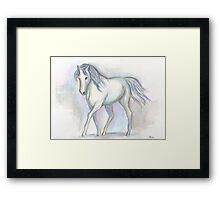 White Pony Framed Print