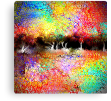 Abstract Landscape in Bright Colors Canvas Print