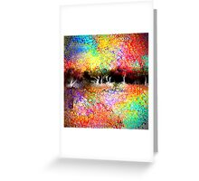 Abstract Landscape in Bright Colors Greeting Card