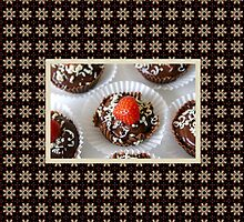 Strawberry and Dark Chocolate Mousse Dessert by Shelley Neff