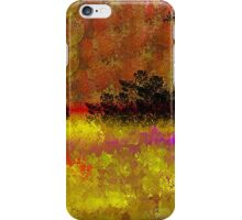 Golden Landscape with Reds and Purple iPhone Case/Skin
