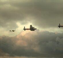 Battle of Britian memorial flight  with The Canadian Warplane Heritage Museum  VeRA  by larry flewers