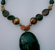 Melted Chocolate Necklace  by honeyjewel