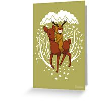 Deer Rider Greeting Card