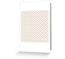 Vintage pattern with polka dots Greeting Card
