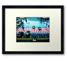 Cabs & the Candy striped crosswalk Framed Print