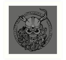 Viking Skull Art Print