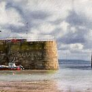 Mousehole Harbour - Impressions by Susie Peek