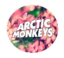Floral Arctic Monkeys logo Photographic Print