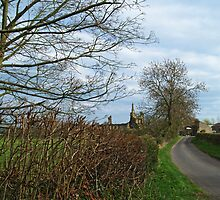 Oldstead Road and Byland Abbey by WatscapePhoto