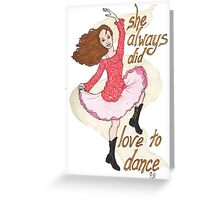 River, Dancing Greeting Card