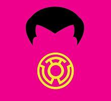 Minimalist Sinestro by Ryan Heller