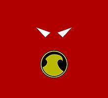 Minimalist Red Robin by Ryan Heller