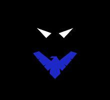 Minimalist Nightwing by Ryan Heller