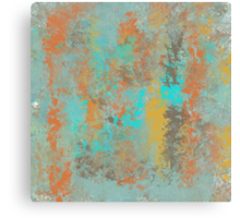 Abstract Design in Gold, Aqua, Brown and Copper Canvas Print