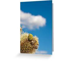 Jumping Cholla Cactus Detail Greeting Card