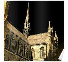 cathedral under black sky Poster