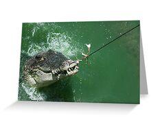 Crocodile caught Greeting Card