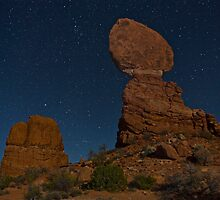 Balanced Rock at Night by Robert Yone