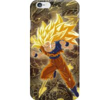 SSJ 3 Son Goku and Shenron  iPhone Case/Skin