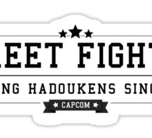Street Fighter - Retro Black Clean Sticker