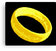 The one ring pixel art Canvas Print