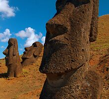 Imposing Heads, Easter Island by Martyn Baker | Martyn Baker Photography