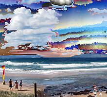 Rainbow Beach Surreal by robert murray