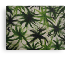 Obscure leaves. Canvas Print