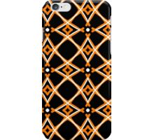 Geometric circles, gold and black iPhone Case/Skin