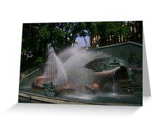 Captain Cook Memorial Fountain Greeting Card