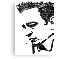DISTRESSED MAN IN BLACK Canvas Print