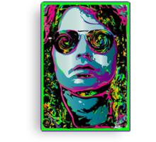 ROCK GOD - black light poster Canvas Print