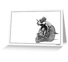 Triceratops on a  Tricycle Greeting Card