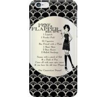Gatsby Girl Recipe To Be A 1920s Flapper Girl (in black silver & pearl) iPhone Case/Skin