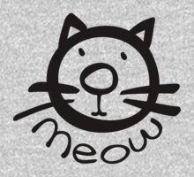Meow kitty cat Kids Clothes