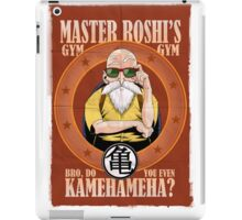 Master Roshi's Gym - Bro, Do You Even Kamehameha? iPad Case/Skin
