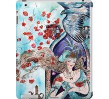 ORIENTAL FAIRY TALE / PRINCESS ,RED ROSES AND FLYING  HAWK iPad Case/Skin