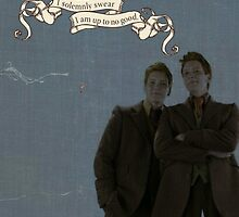 "Fred and George ""I solemnly swear I am up to no good"" by DragoonTheGreat"