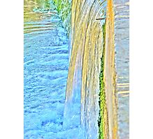 Water on Steps Photographic Print