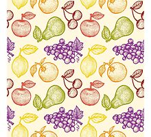 Retro fruits pattern Photographic Print